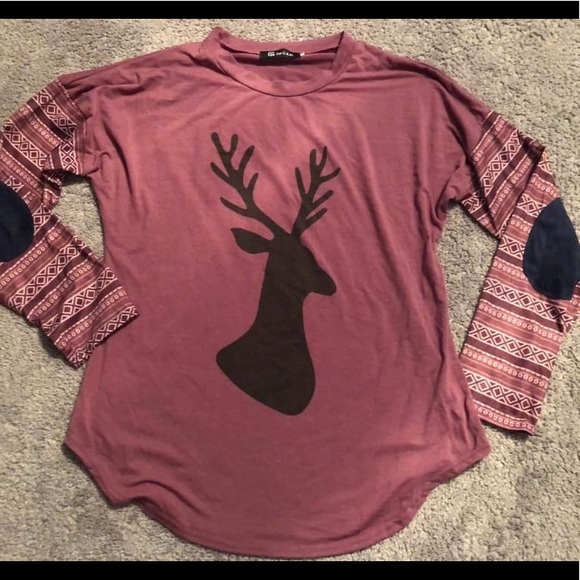 Tops - ‼️‼️‼️ SOLD ‼️‼️‼️ Deer Long Sleeve with patches